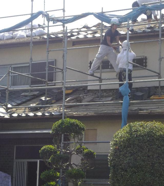 瓦屋根からスレート屋根へ